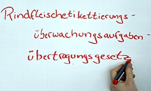 Rindfleischetikettierungsüberwachungsaufgabenübertragungsgesetz| palabras más largas en Aleman